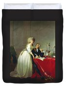 Portrait Of Antoine-laurent Lavoisier And His Wife Duvet Cover