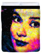 Portrait Of Audrey Hepburn Duvet Cover