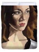 Portrait Of Becca Duvet Cover