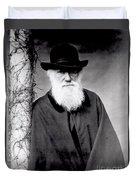 Portrait Of Charles Darwin Duvet Cover by Julia Margaret Cameron