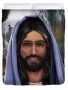 Portrait Of Christ Duvet Cover