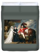 Portrait Of Colonel Fitch And His Sisters Duvet Cover