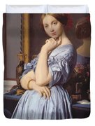Portrait Of Countess D Haussonville Duvet Cover