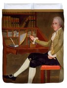 Portrait Of David Baldwin 1790 Duvet Cover