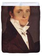 Portrait Of Edme Bochet 1811 Duvet Cover