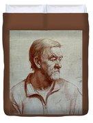 Portrait Of Elderly Man Duvet Cover