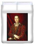Portrait Of Eleanora Di Toledo Duvet Cover