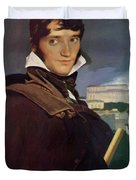 Portrait Of Francois Marius Granet Duvet Cover