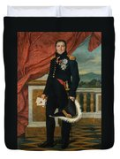 Portrait Of French Politician And Soldier Etienne Maurice Gerard Duvet Cover
