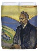 Portrait Of Friedrich Nietzsche Duvet Cover