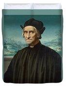Portrait Of Girolamo Benivieni Duvet Cover