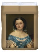 Portrait Of Henriette Mayer Van Den Bergh, At And By Jozef Van Lerius Duvet Cover