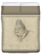 Portrait Of Henry Avercamp Duvet Cover