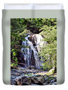 Portrait Of Houston Brook Falls Duvet Cover