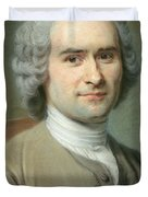 Portrait Of Jean Jacques Rousseau Duvet Cover