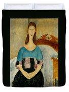 Portrait Of Jeanne Hebuterne Duvet Cover by Amedeo Modigliani