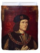 Portrait Of King Richard IIi Duvet Cover by English School
