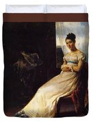 Portrait Of Laura Bro 1820 Duvet Cover