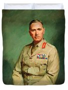 Portrait Of Lieutenant - General The Honorable Sir Edmund Herring Duvet Cover