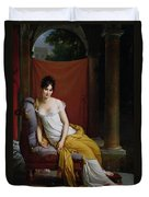 Portrait Of Madame Recamier Duvet Cover