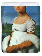 Portrait Of Mademoiselle Riviae 1805 Duvet Cover