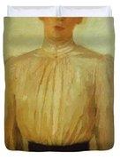 Portrait Of Maria Tolstaya Leo Tolstoy Daughter Duvet Cover