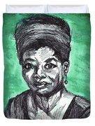 Portrait Of Maya Angelou Duvet Cover