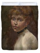 Portrait Of Mery Laurent Duvet Cover