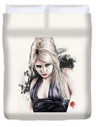Portrait Of Miss Mosh Duvet Cover by Pete Tapang