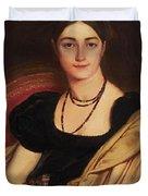 Portrait Of Mrs Devauay Duvet Cover