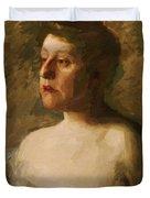 Portrait Of Mrs W H Bowden 1906 Duvet Cover