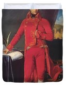 Portrait Of Napolan Bonaparte The First Council 1804 Duvet Cover