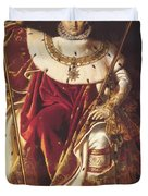 Portrait Of Napolan On The Imperial Throne 1806 Duvet Cover