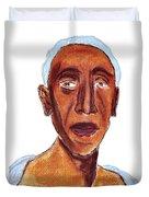 Portrait Of Old Man Duvet Cover