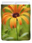Portrait Of Orange Symphony Duvet Cover