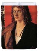 Portrait Of Oswolt Krel 1499 Duvet Cover