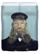 Portrait Of Postman Roulin Duvet Cover by Vincent van Gogh