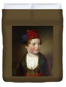 Portrait Of Prince Victor Odescalchi  In Greek Costume At The Age Of Five Duvet Cover