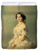 Portrait Of Princess Of Baden Duvet Cover