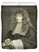 Portrait Of Sir Isaac Newton Duvet Cover