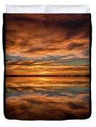 Portrait Of Sunrise Reflections On The Great Plains Duvet Cover
