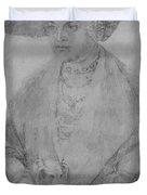 Portrait Of Susanne Von Brandenburg Ansbach Duvet Cover