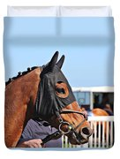 Portrait Of The Horse In The Hood Duvet Cover