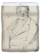 Portrait Of The Painter Charles Thevenin Director Of The Academy Of France In Rome Duvet Cover