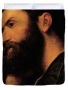 Portrait Of The Poet Pietro Aretino Duvet Cover