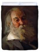 Portrait Of Walt Whitman 1887 Duvet Cover