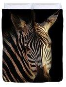 Portrait Of Zebra Duvet Cover