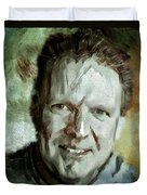 Portrait Painting Cinematographer Camera Operator Behind The Scenes Movie Tv Show Film Chicago Med Duvet Cover