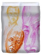 Portraits In 3b Duvet Cover