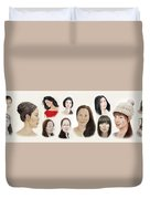 Portraits Of Lovely Asian Women II Duvet Cover